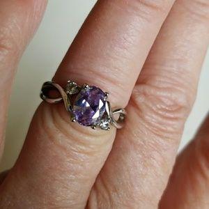 Purple stone ring size 6